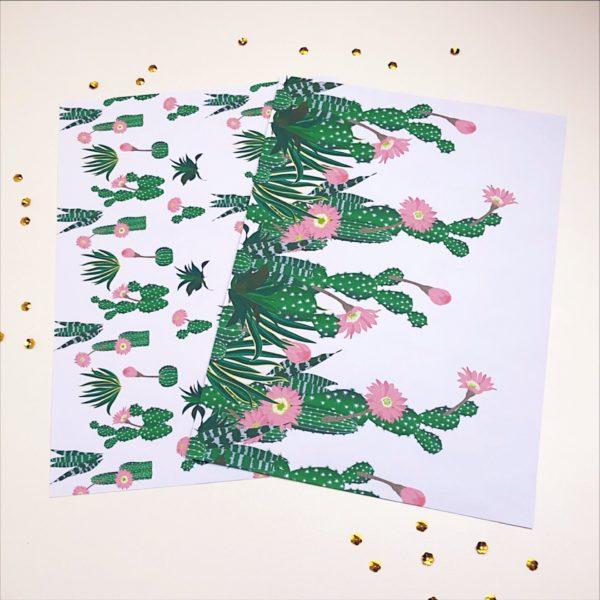 Papel de Scrap | Flor do deserto