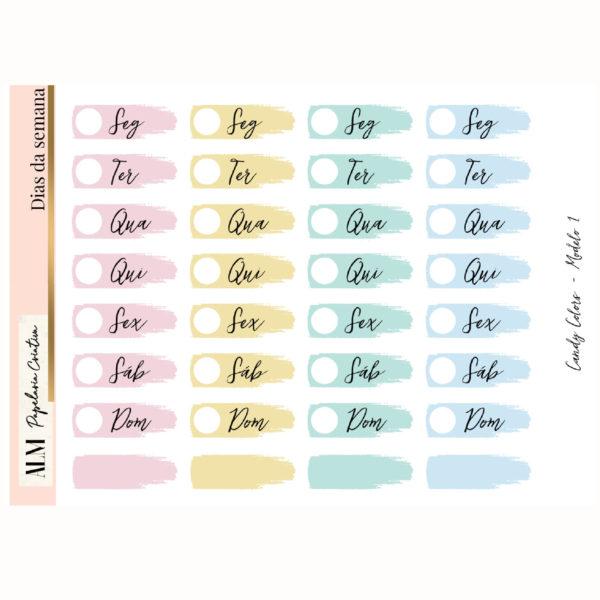 Dias da semana | Candy Colors 1