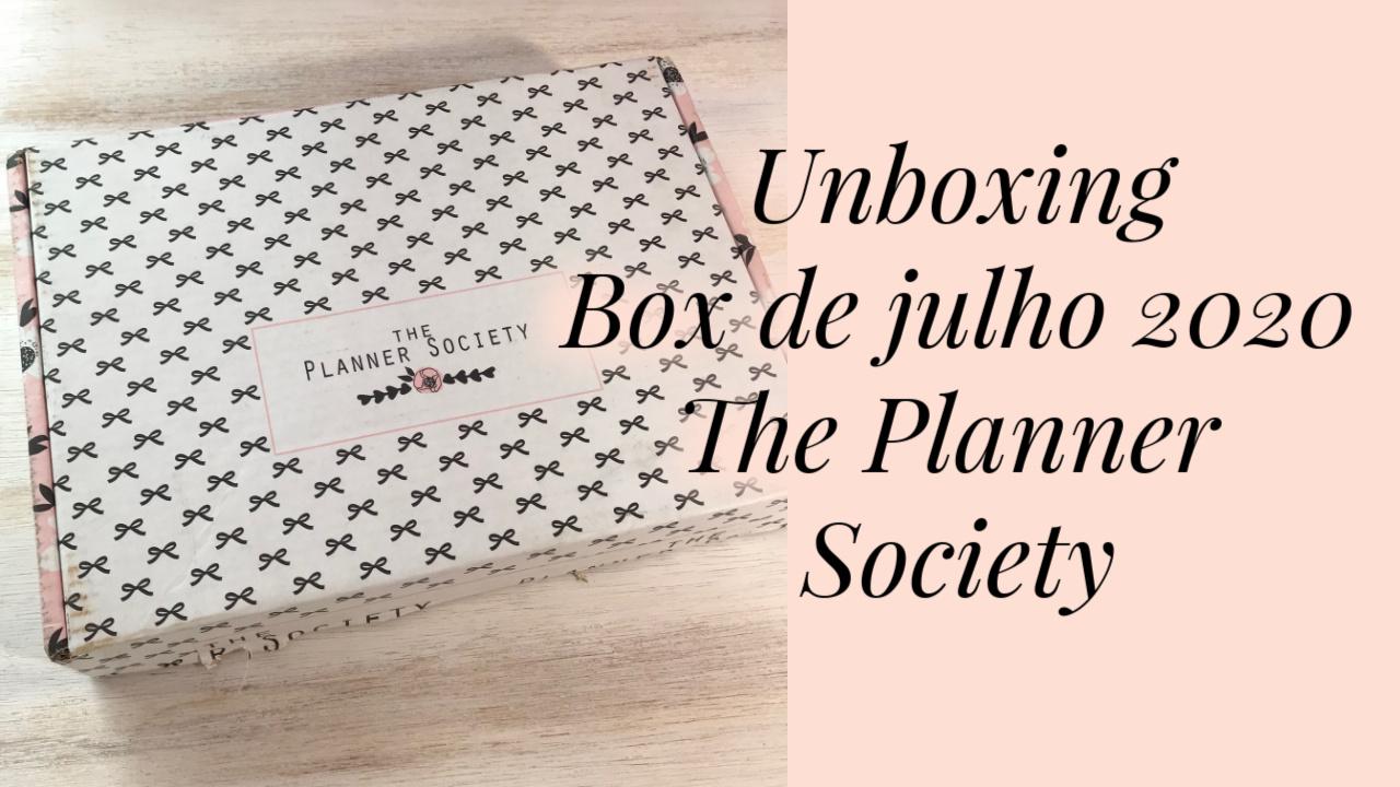 Conhecendo a box The Planner Society
